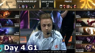 Gambar cover RNG vs FNC   Day 4 S9 LoL Worlds 2019 Group Stage   Royal Never Give Up vs Fnatic