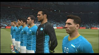 PES 2016 Gameplay Argentina V/S Brazil PC