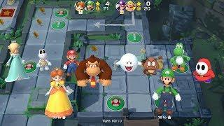 Super Mario Party Partner Party #94 Domino Ruins Treasure Hunt Daisy & Luigi vs Waluigi & Wario