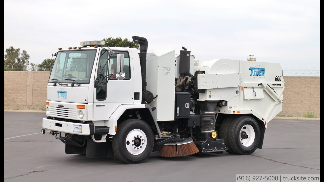 Freightliner For Sale >> 2007 Freightliner Tymco 600 CNG Air Street Sweeper for sale - YouTube