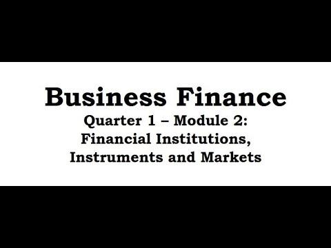 Business Finance Module 2