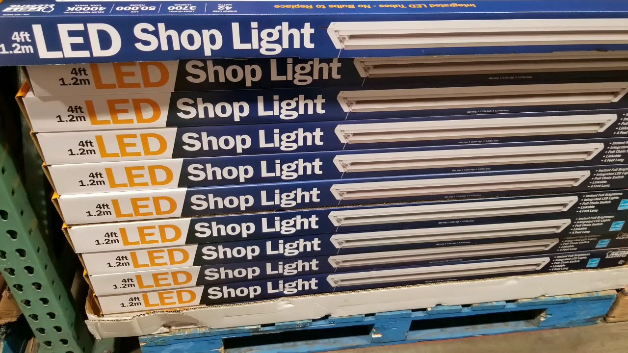 Costco Feit 4 Ft Led Shop Light 20 Youtube