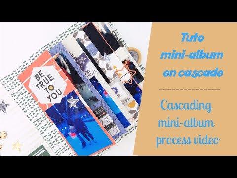[DT Dans mes pochettes #2] Tuto mini-album en cascade - Cascading mini-album process video