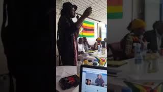 Linos Wengara and Morrissen Mamutse at Mbuya Nehanda conference