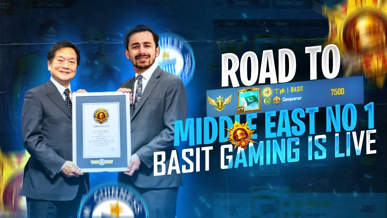 Download MIDDLE EAST RANK #1 is Here    YouTube BASIT Live     PUBG Mobile