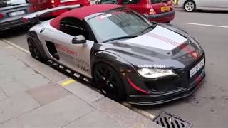 Supercars Of London!!!Audi R8 Cabrio Race Mode!!!