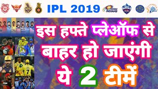 IPL 2019 List Of 2 Teams Might Ruled Out From VIVO IPL Playoffs | My Cricket Production
