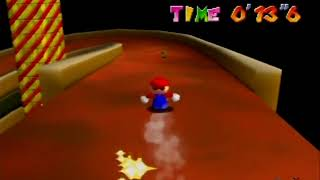 Super Mario 64 - Castle Secret Star, Princess's Secret Slide (Under 21 Seconds)