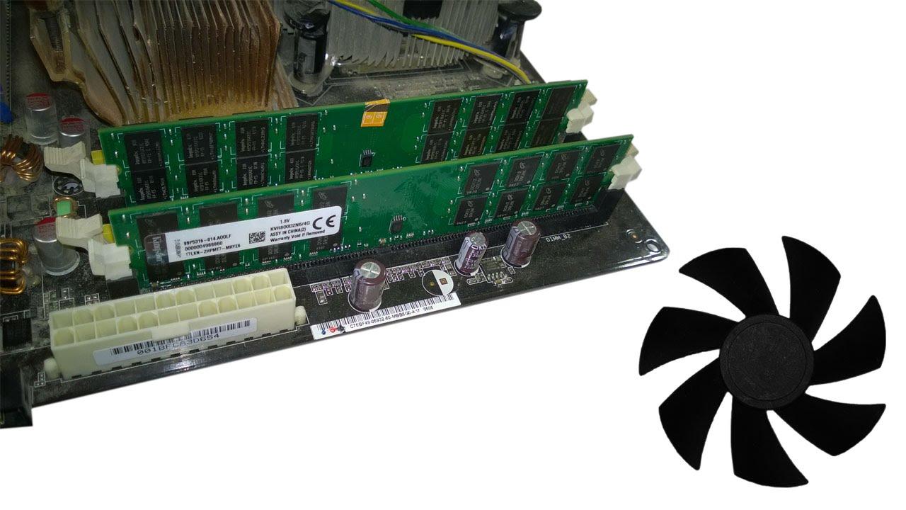 Ремонт материнской платы и обзор оперативной памяти DDR1 на BGA .