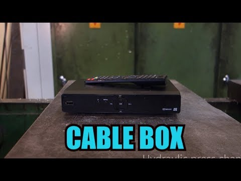 Crushing cable box with hydraulic press
