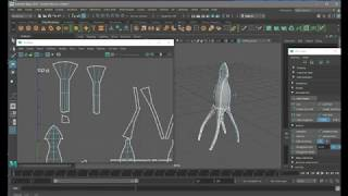 How To Make A Squid in Maya and Texture in Photoshop and Put in Unity