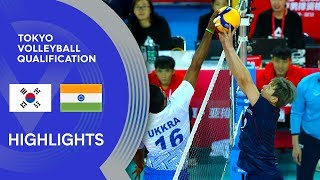 Korea vs. India - Highlights | AVC Men's Tokyo Volleyball Qualification 2020