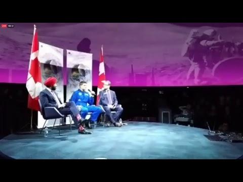 EN DIRECT – Le Ministre Navdeep Bains Présente La Stratégie Spatiale Canadienne.