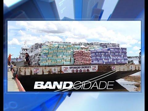 Sofrendo grande cheia, calha do Rio Juruá recebe kits humanitários