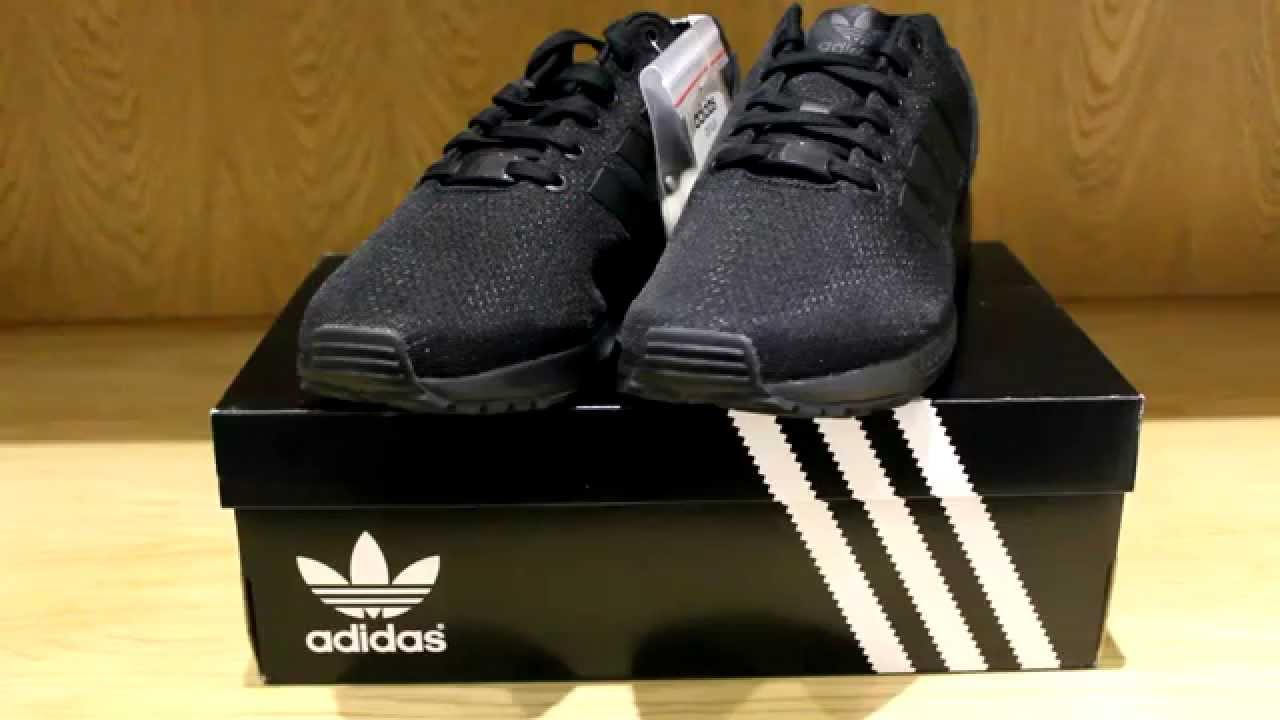 0d185271a9f9f Adidas ZX Flux  Triple Black  - Review - YouTube