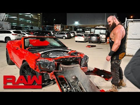 Braun Strowman wrecks his new car: Raw, March 11, 2019