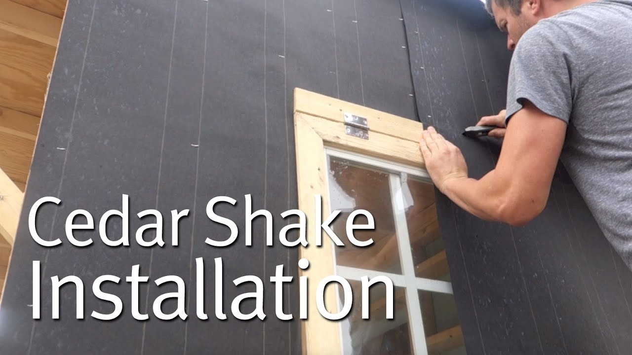 Simple Cedar Shake Siding Installation