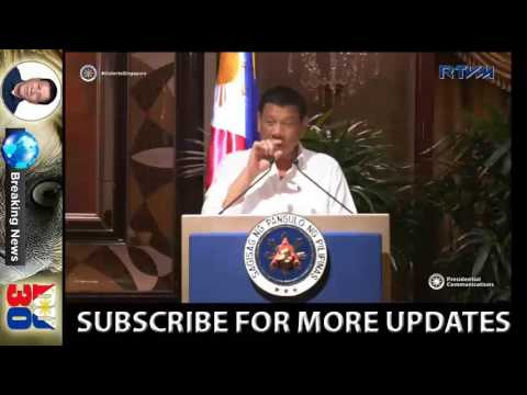 Duterte Latest News - President Duterte's Powerful Speech to Business Men in Singapore