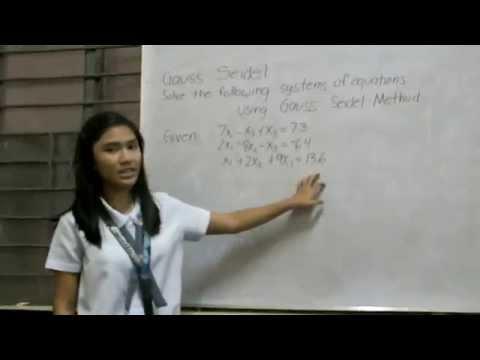 Gauss Seidel Method (Numerical Methods Project)