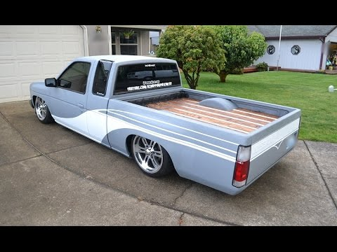 bagged nissan hardbody walk around updated
