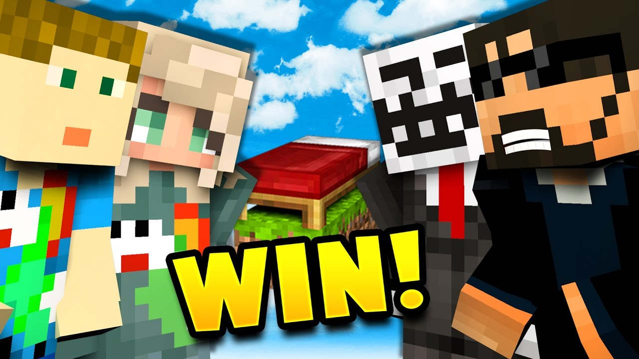 TRYING TO WIN CHALLENGE   Minecraft Bed Wars 4v4 - YouTube
