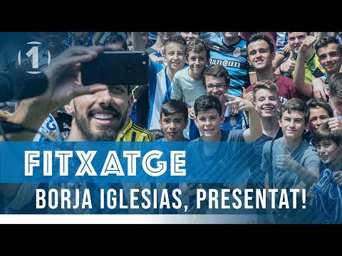 Presentació de Borja Iglesias al RCDE Stadium