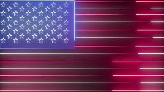 Neon Lights America Flag Loop Motion Graphics Animated Background - Free Footage