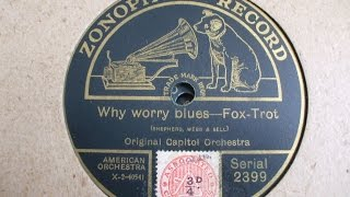 """Why Worry Blues"" Fox Trot Original Capitol Orchestra Zono 2399"