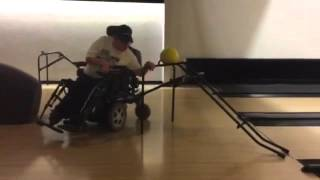 VLOG: Bowling with a wheelchair