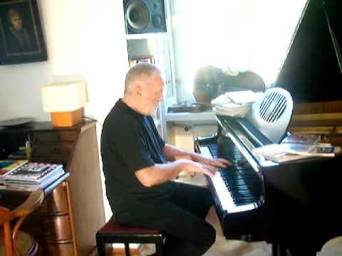 Eberhard Kranemann at home - playing piano