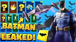 *NEW* All Leaked Fortnite X Batman Cosmetics..!! (Batman Skin & Glider, DC)