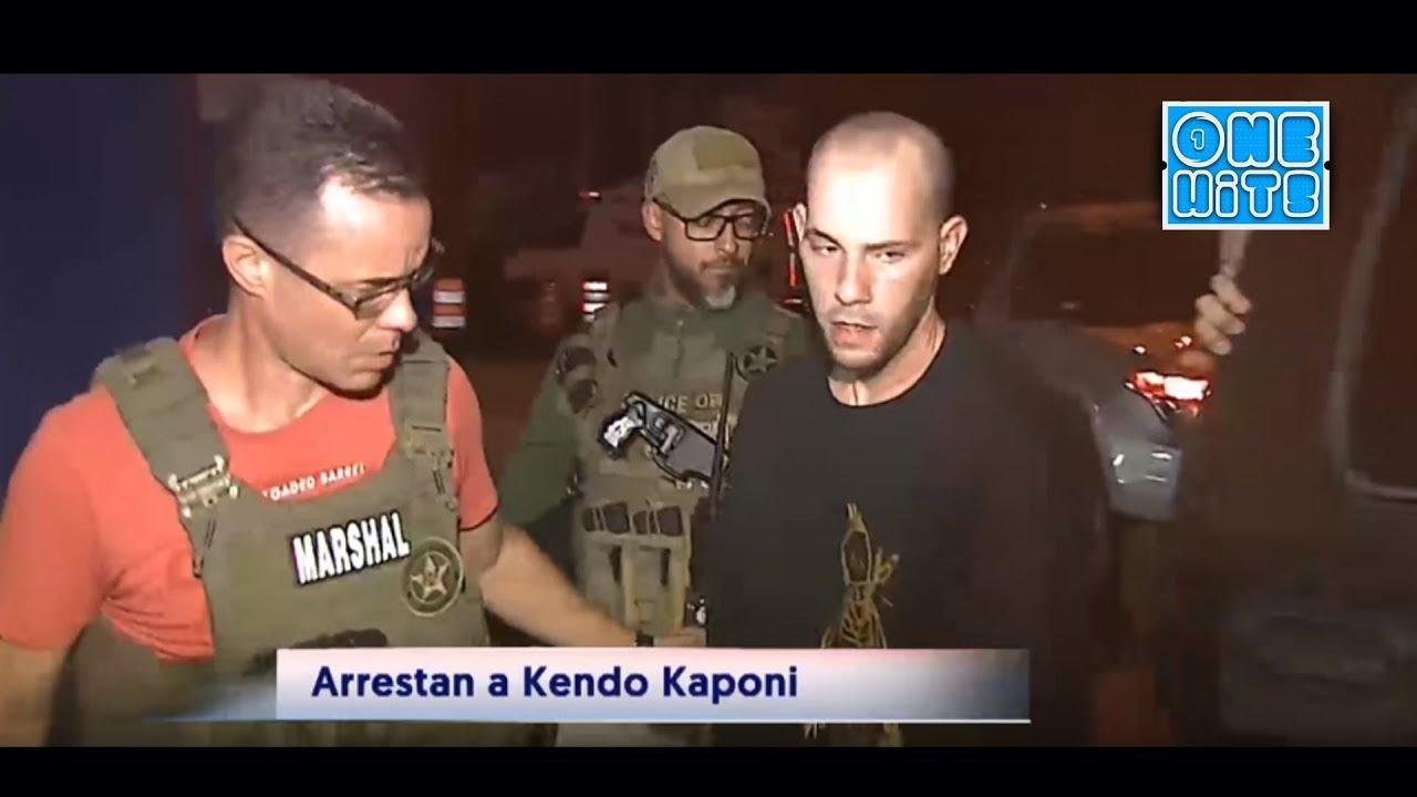 Imagenes del momento cuando arrestan de Kendo Kaponi (2018)
