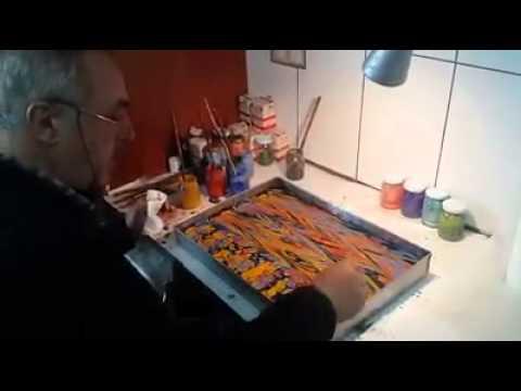 Alparslan Babaoğlu Taraklı Ebru yapımı