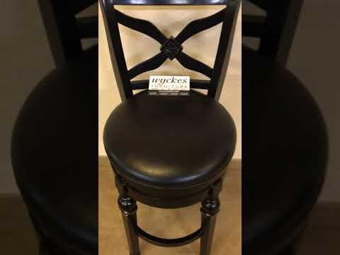 "100279 Black Swivel 30"" Seating Height Bar Stool"