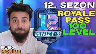 EFSANE LAN! 12. SEZON ROYALE PASS 100 LEVEL YAPTIM! PUBG Mobile