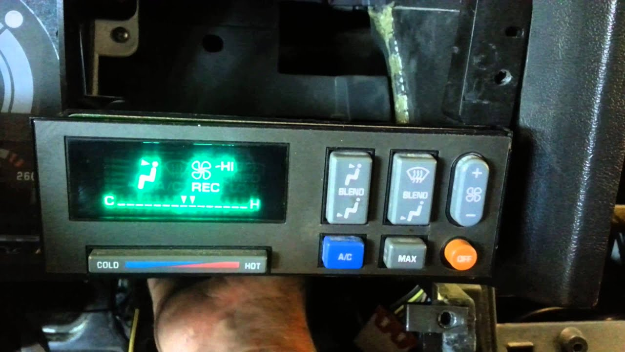 2000 GMC C6500 Topkick AC control problem - YouTube