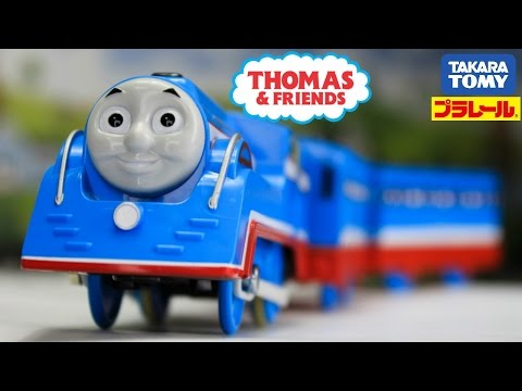 Thumbnail: Thomas and Friends: The Great Race Plarail Streamlined Thomas|Thomas and Friends toy trains