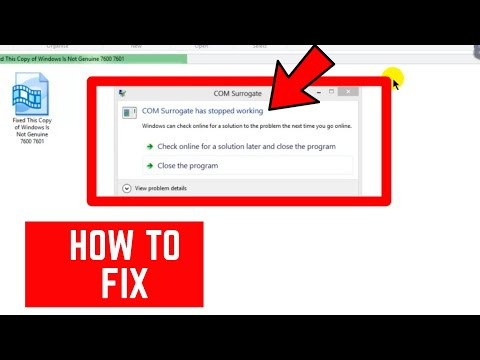 COM Surrogate Has Stopped Working - How To Fix