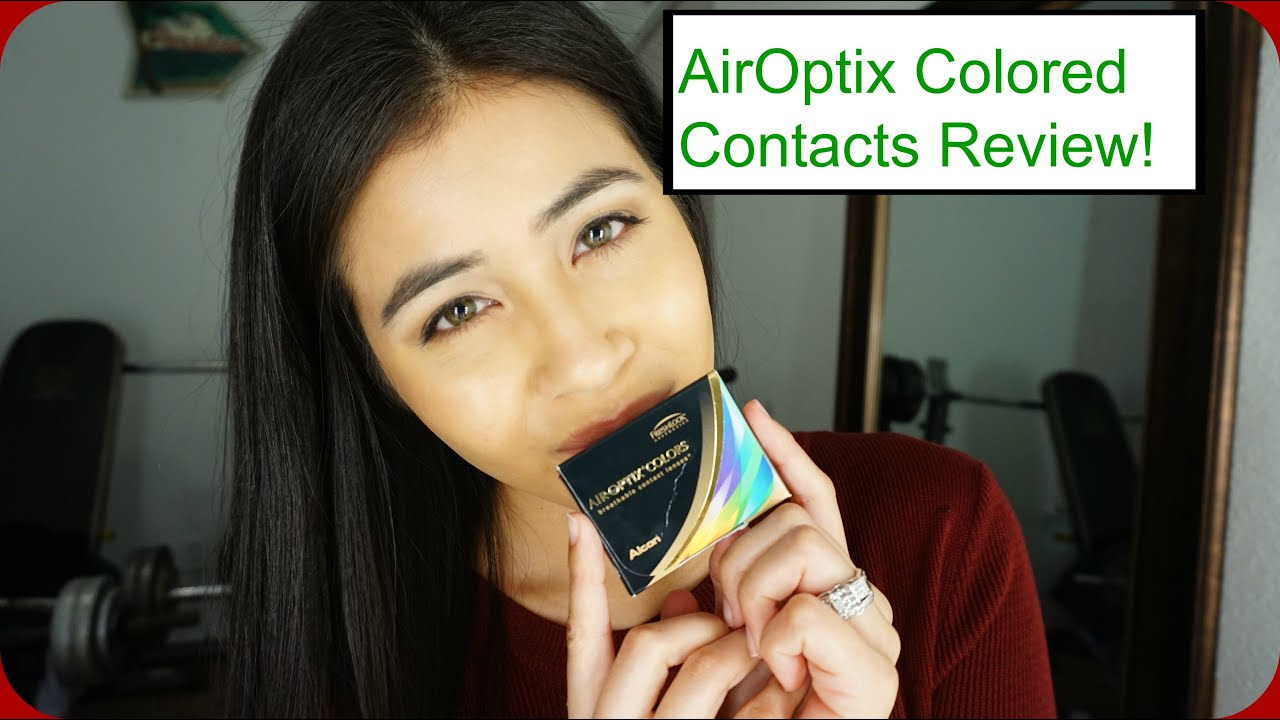air optix colored contacts in pure hazel review youtube - Colored Contacts Hazel
