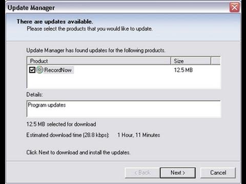 Recordnow Updates - Fix Roxio Update Manager UM.MSI Problem