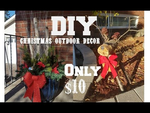 outdoor decoration on a budget | DIY | CHRISTMAS OUTDOOR DECOR ON A BUDGET! - YouTube
