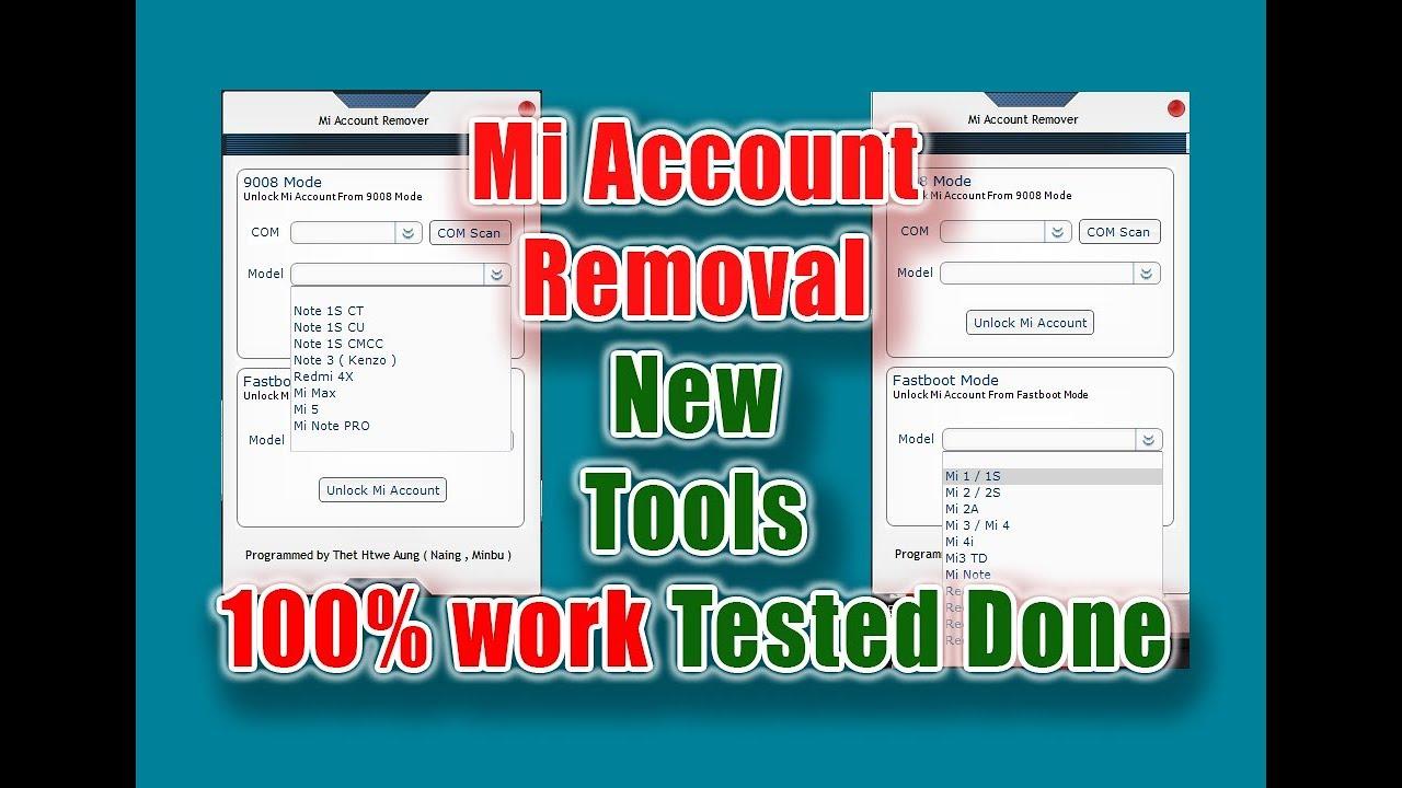 mi account unlock tools all model update 100% Free - YouTube