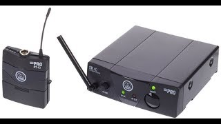 AKG WMS 40 Pro Mini Wireless Guitar system Set up and demo.
