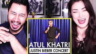 ATUL KHATRI ON THE JUSTIN BIEBER CONCERT   Stand Up Comedy   Reaction by Jaby & Alazay!