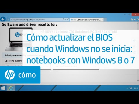 Cómo actualizar el BIOS cuando Windows no se inicia: notebooks con Windows 8 o 7 | HP Notebook | HP