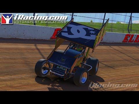 Iracing Dirt At Eldora Speedway-410 Sprint Car!!!!