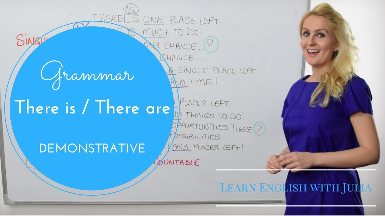 Demonstrative Pronouns and Adjectives (there is/there are) 2of2
