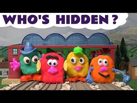 Play Doh Surprise Eggs Faces Thomas The Tank Playdough Guess The Engine Thomas and Friends Kids