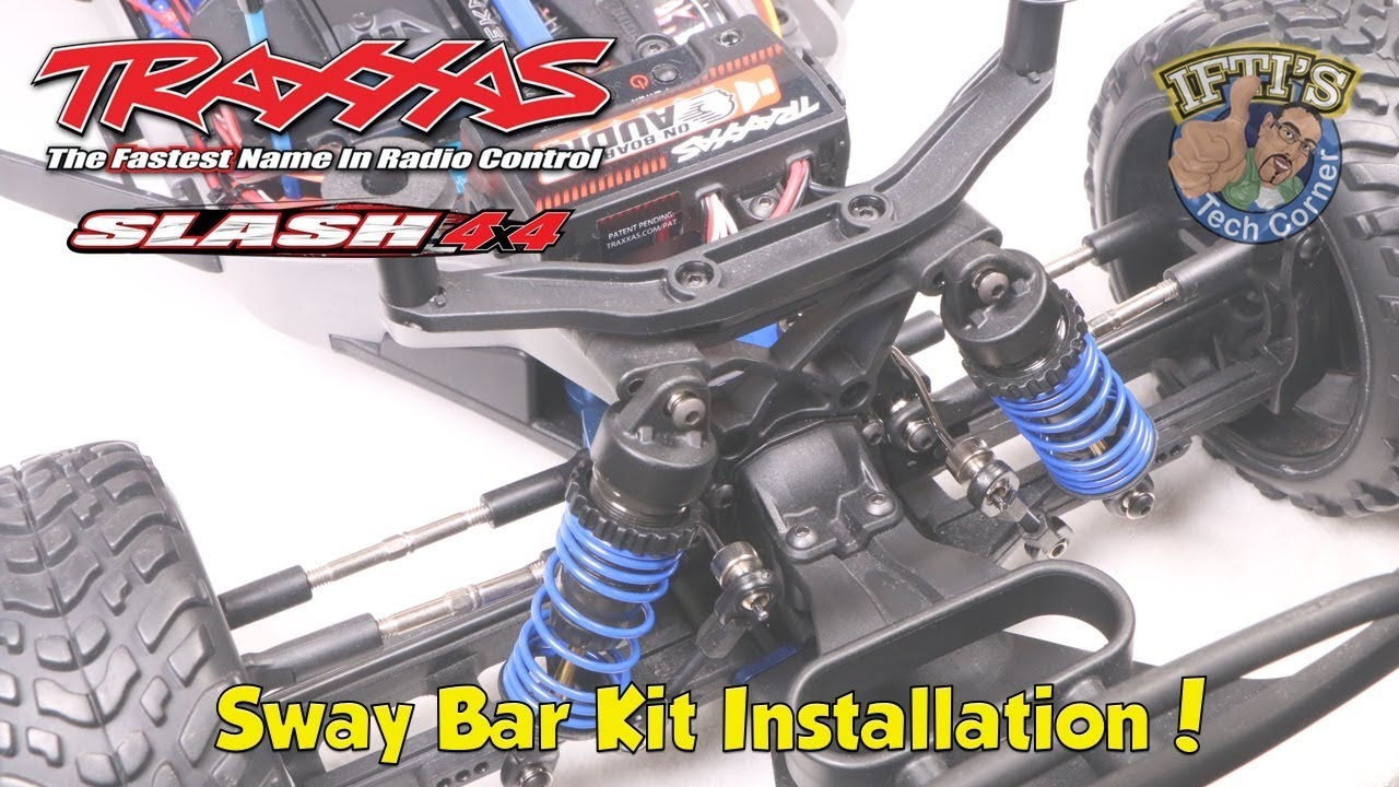 #19 Traxxas Slash 4X4 : 6898 Sway Bar Kit Installation!
