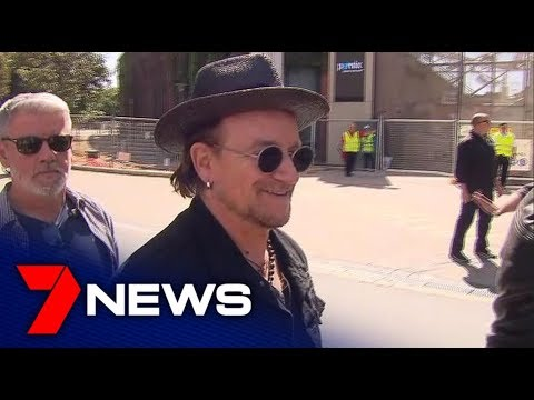 U2 Arrives At Adelaide Oval | Adelaide. South Australia | 7NEWS